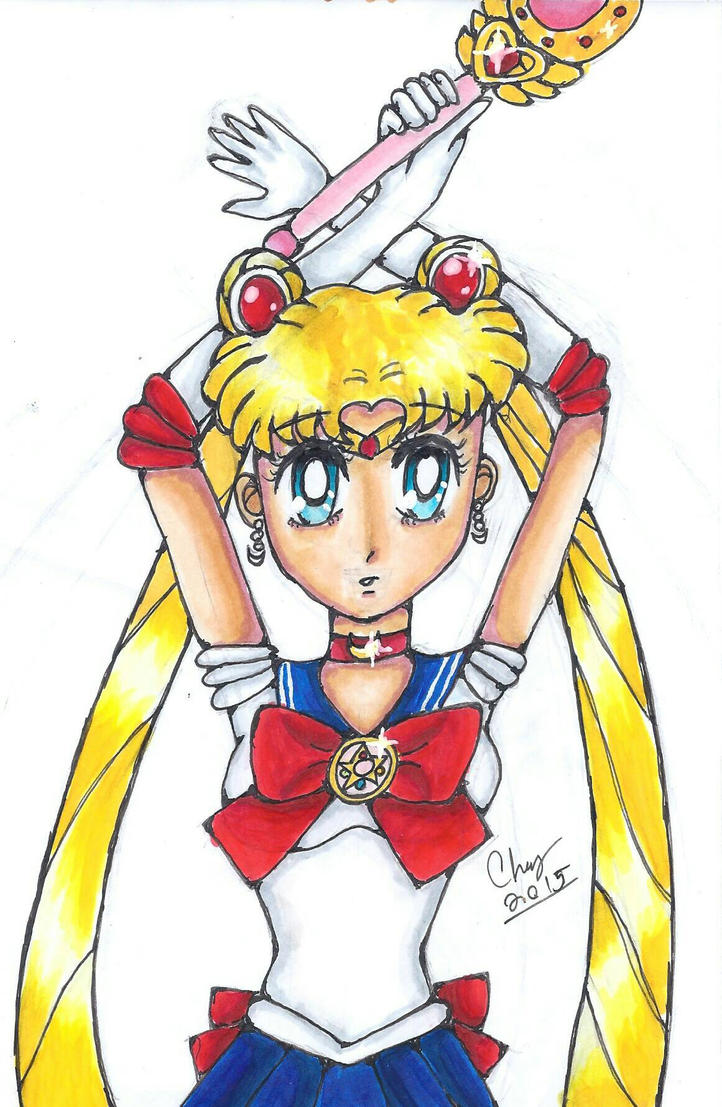 Sailor Moon (draw this again 2015) by KittyCatChey