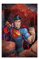 Action Superman Colored by anthonymarques