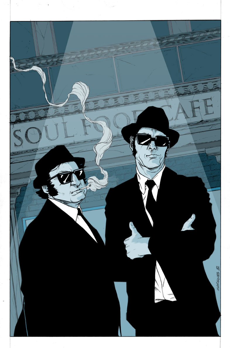 Blues Brothers In ColoEl Wood Wallpaper