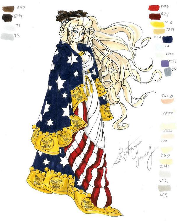 Goddess of Columbia by Alebireo