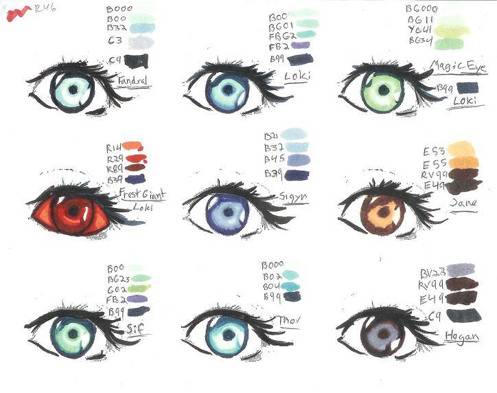 Thor Copics eye color chart by Alebireo on DeviantArt