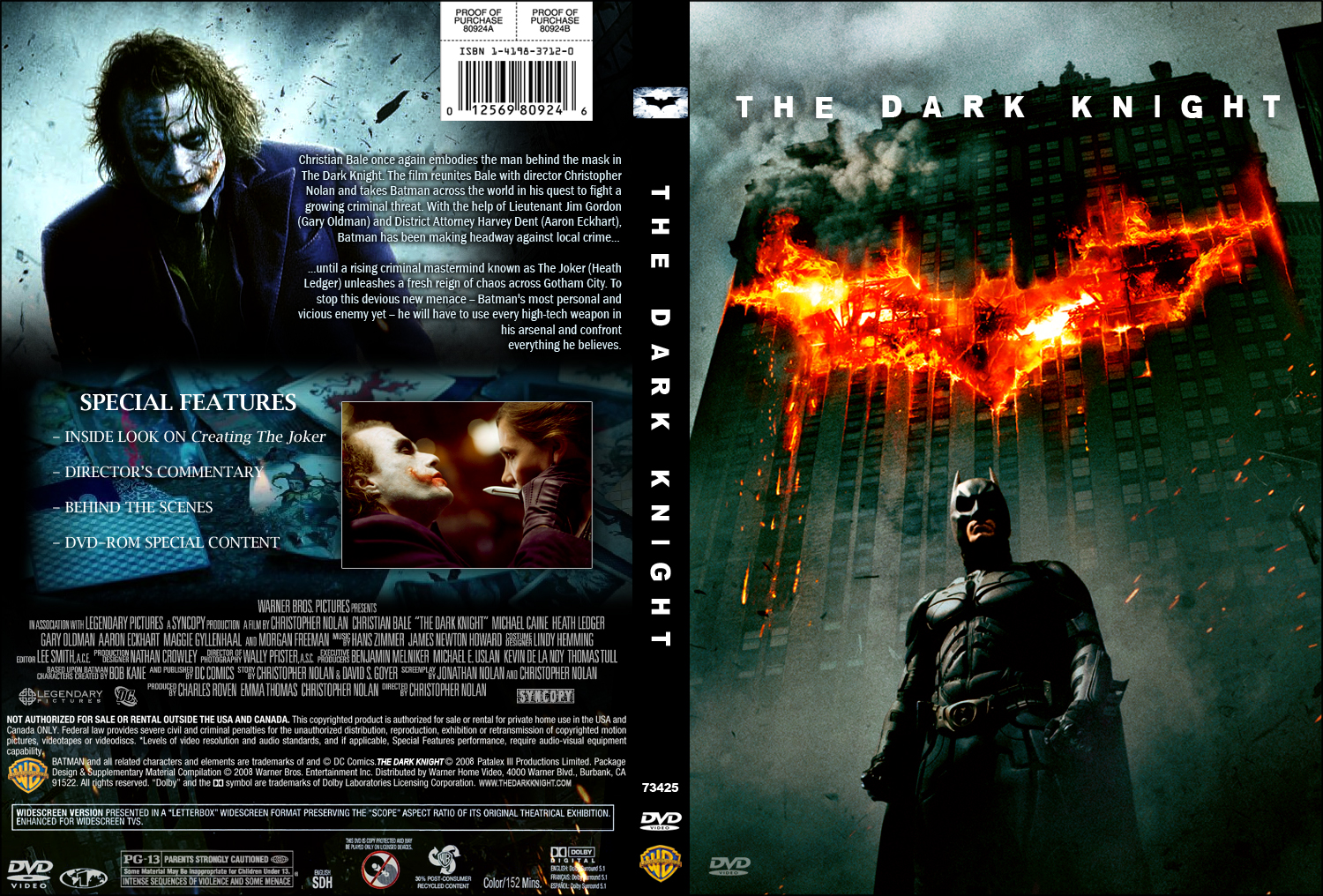 The Dark Knight DVD Cover - Movie Covers