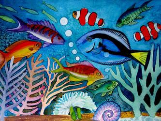 tropical fish by karincharlotte