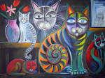 cats in my studio