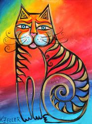 Rainbow cat by karincharlotte