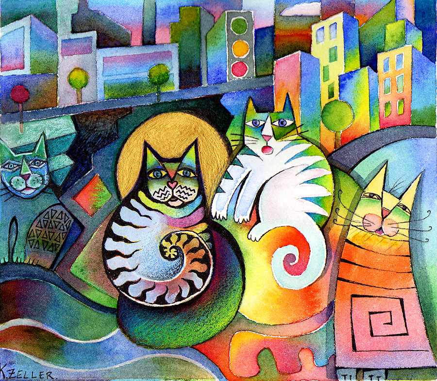 City cats by karincharlotte
