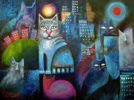 Alley Cats by karincharlotte