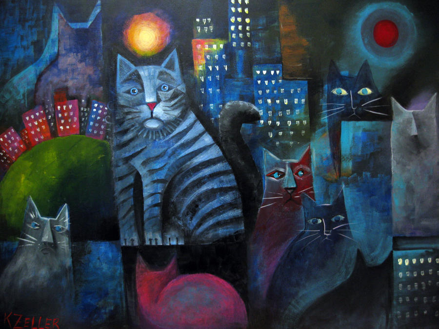 Revised City Cats by karincharlotte