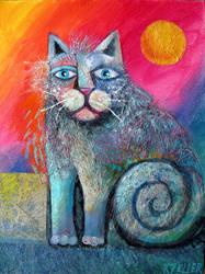 scruffy cat by karincharlotte