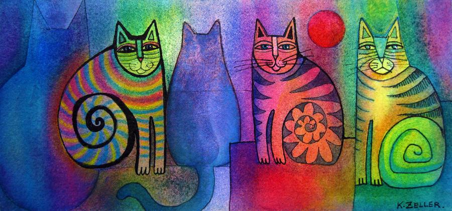 Disco Cats 2 by karincharlotte
