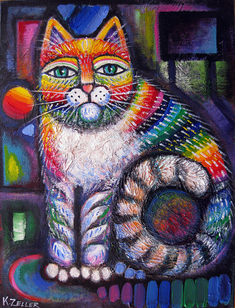 Rainbow cat II by karincharlotte