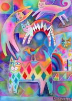 Happy Cats 2 by karincharlotte