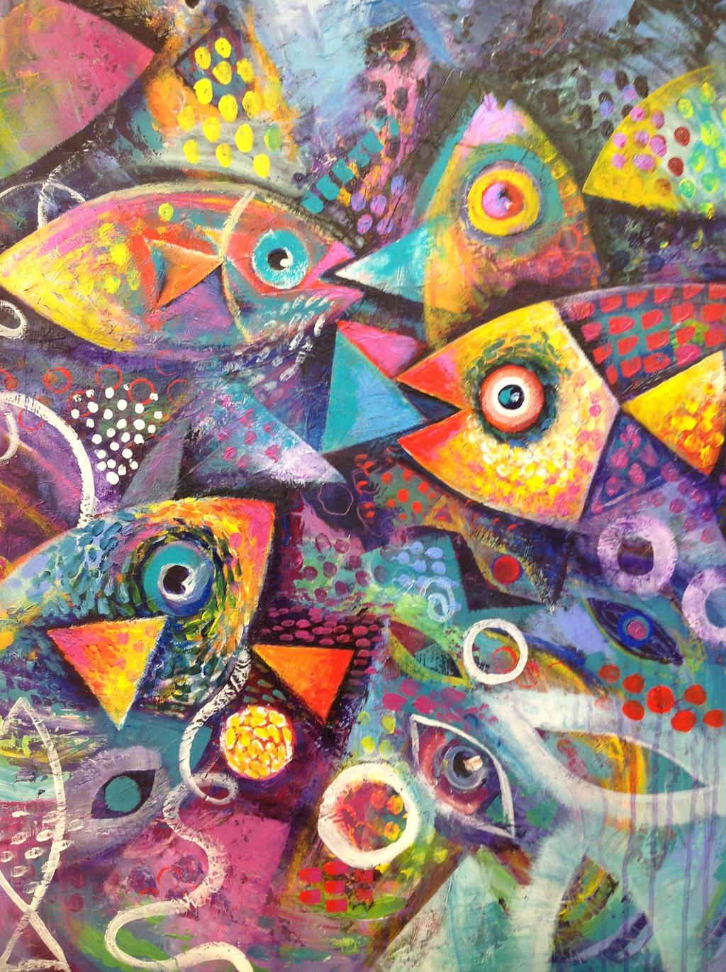 New Fish Painting By Karincharlotte
