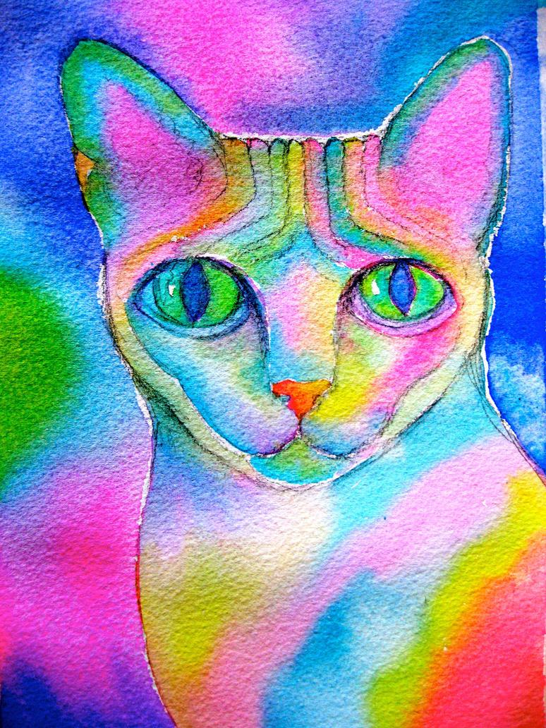 Rainbow Sphinx by karincharlotte