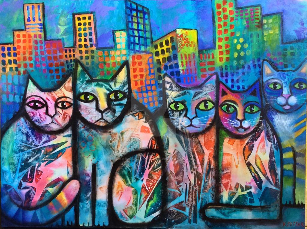 Urban Cats II by karincharlotte