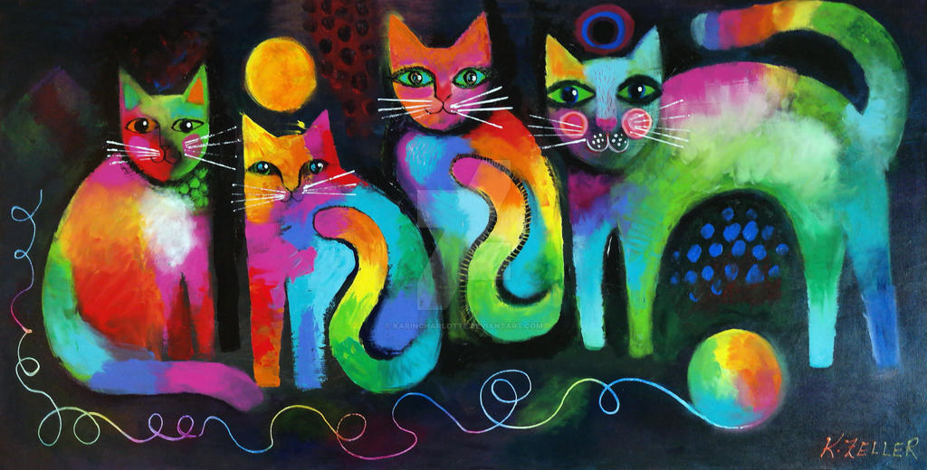 Four cats by karincharlotte