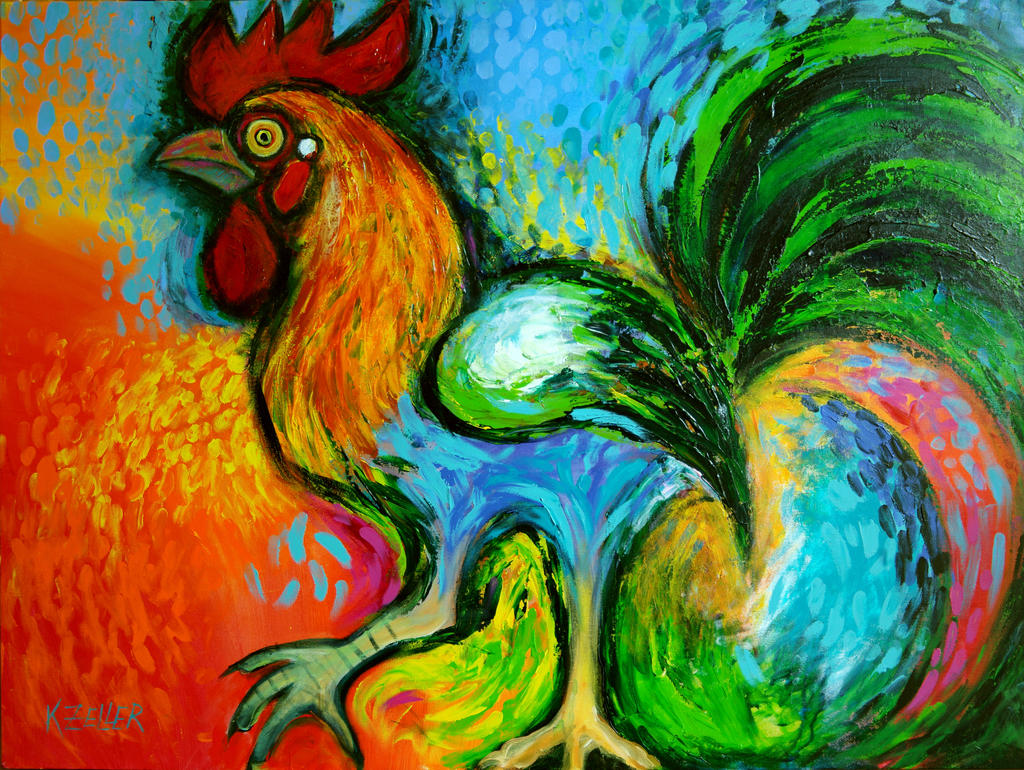 Big Rooster Acrylics updated version by karincharlotte