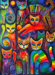 Rainbow Cats Acrylics