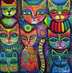 8 Colourful cats
