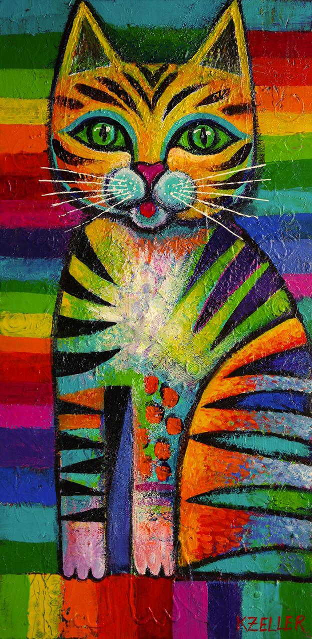 Rainbow tabby by karincharlotte