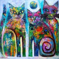 Three Cats by karincharlotte