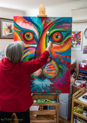 At the Easel