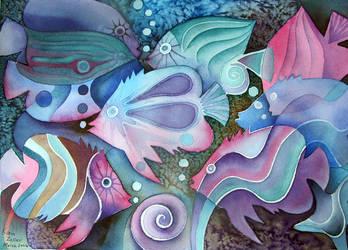 watercolour fish by karincharlotte
