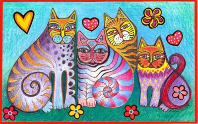 4 Cats by karincharlotte
