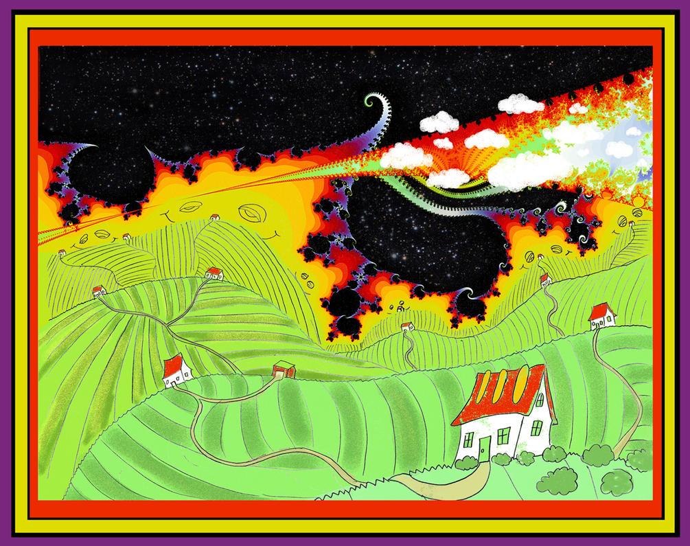 Alien Horizon Cosmic Hills by gloamstur
