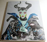 Maleficent Mixed Media Collage by ange-etrange