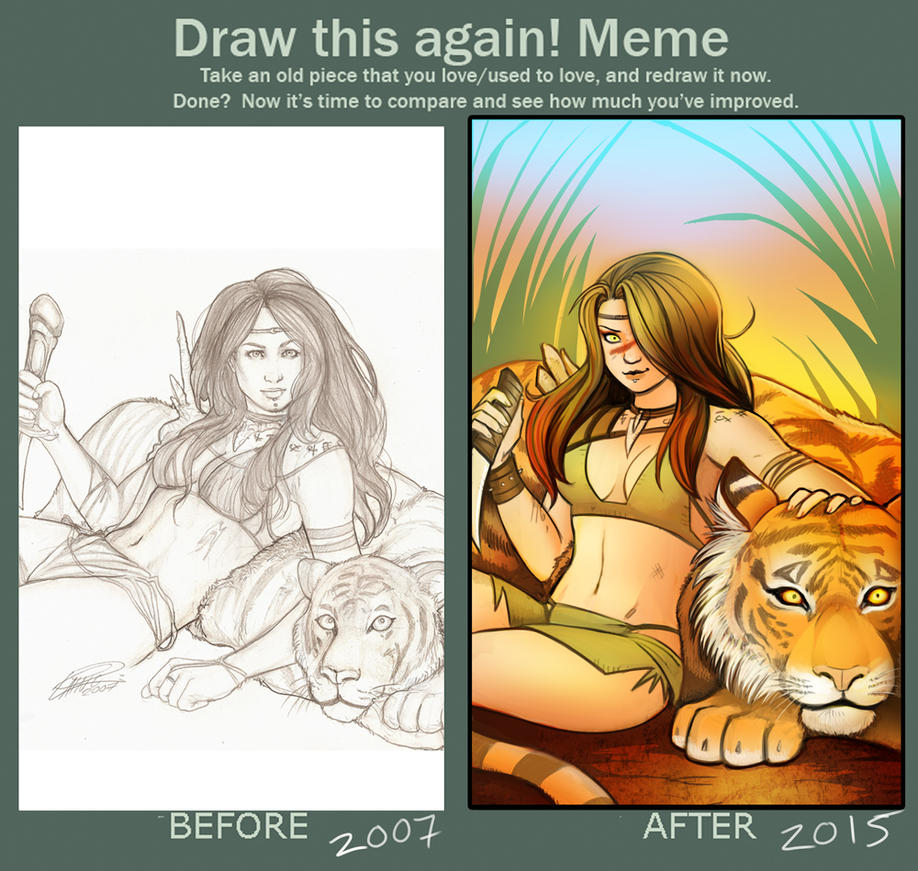 Draw this again: Tiger Girl by Holly-the-Laing
