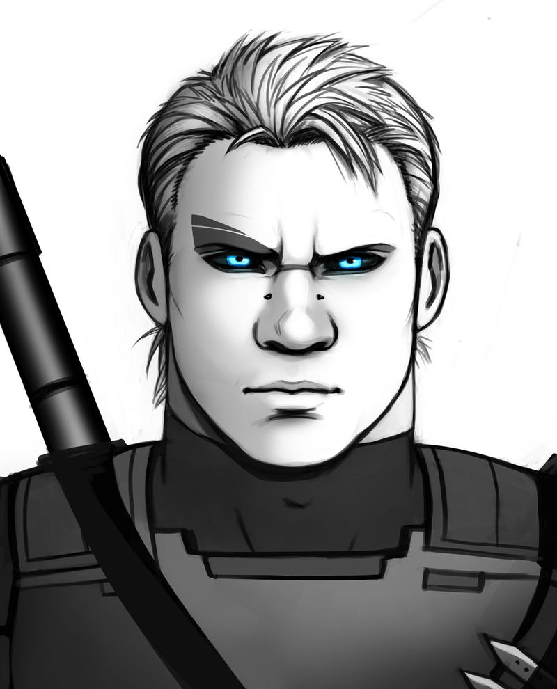 Agrippa Varus - Grayscale Portrait by Holly-the-Laing
