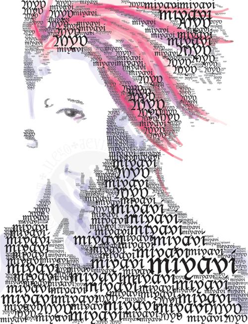 Miyavi Type Portrait by jlego