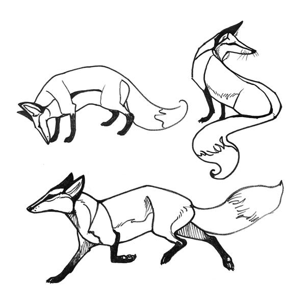 Line Drawing Fox : Free line art forget me not by theurbanfox on deviantart