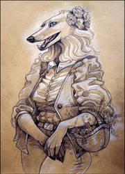 Borzoi Lady
