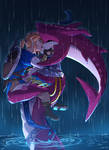 Kiss in the Rain by VulpisMajor