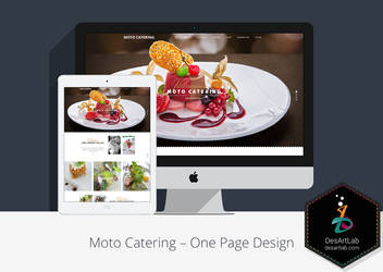 Moto Catering One Page Design