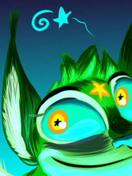 Star Lynx cyan synergy by Elcee-the-Porcupine
