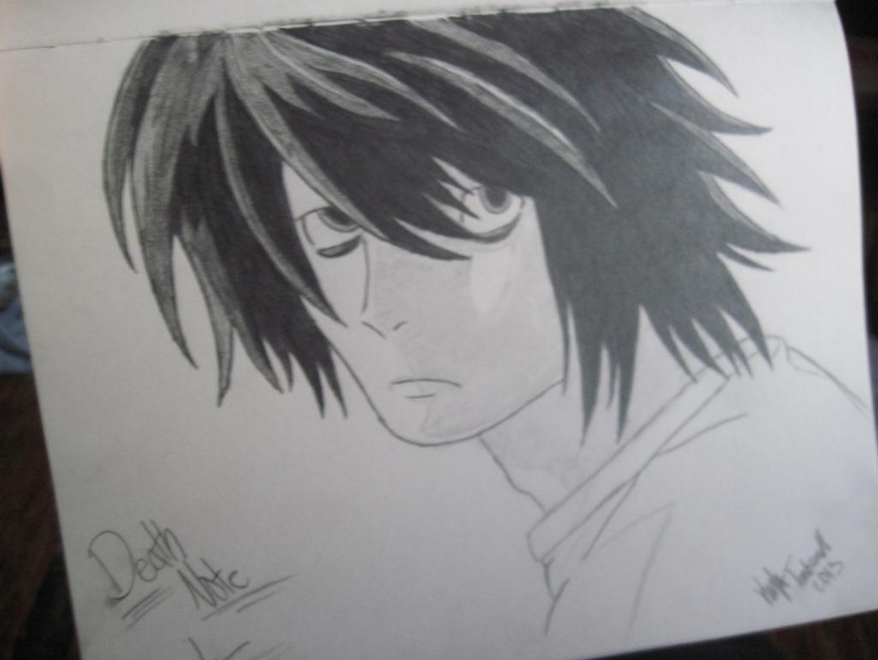 Death Note L Dra...L Death Note Drawing