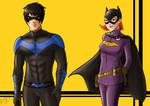Nightwing and Batgirl
