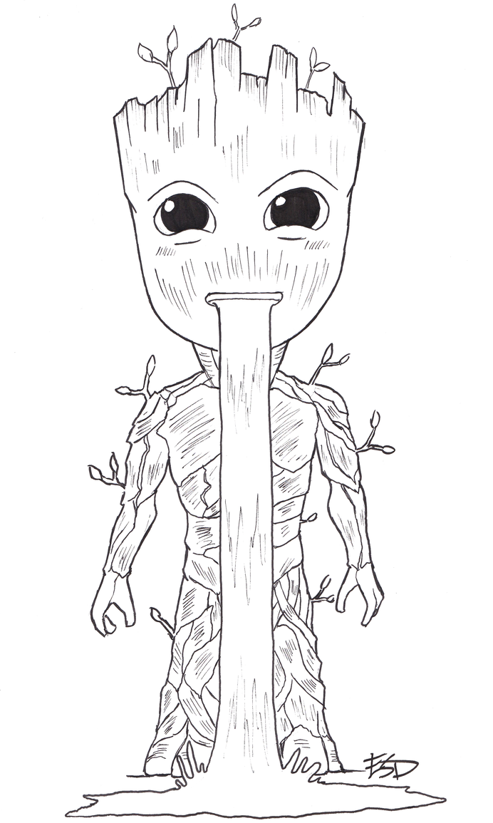 Baby Groot by XenonVincentLegend
