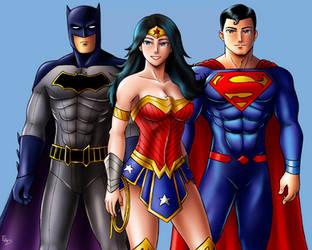The DC Trinity Rebirth by XenonVincentLegend