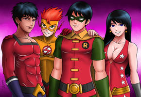 Teen Titans 2 : Classic Team 2 by XenonVincentLegend