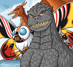 Godzilla, Mothra, and Rodan