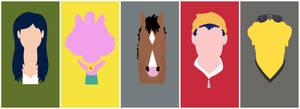Bojack Horseman Minimalist Characters Poster