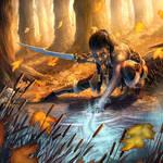 Runecaster Warrior by dangercook