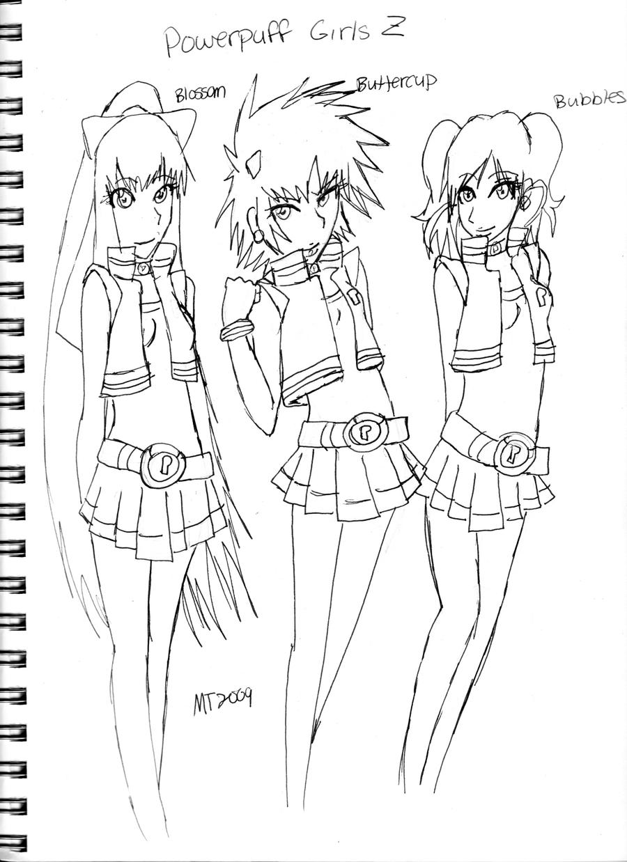 Adult Cute Powerpuff Girls Z Coloring Pages Images beauty powerpuff girls z by temari9100 on deviantart gallery images