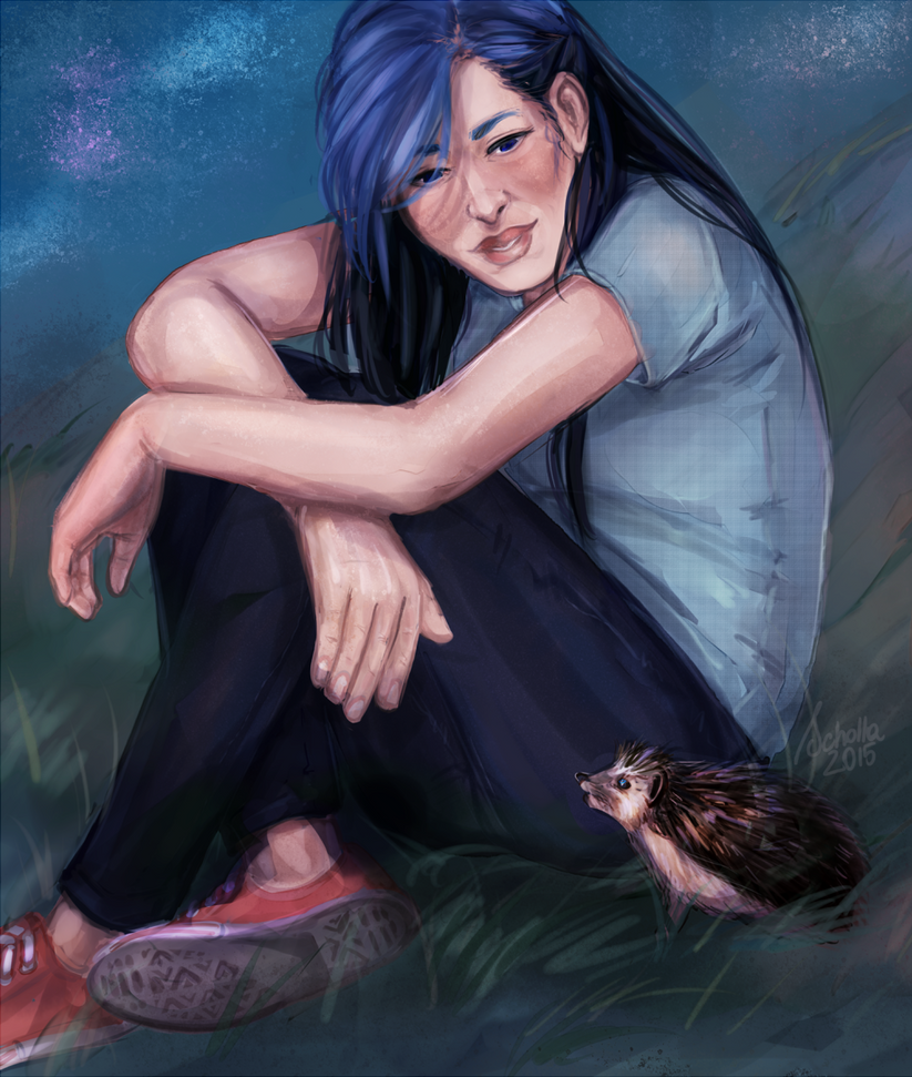 a romantic night with a hedgehog by soi-scholla
