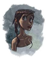 Girl sketch by petura