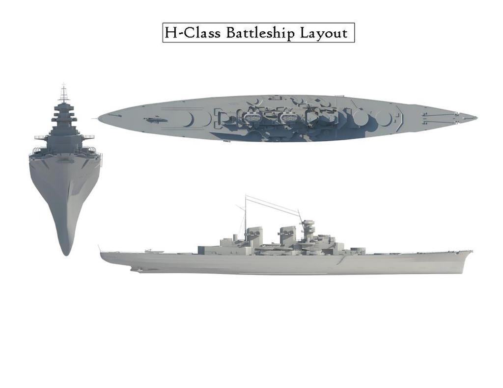 H-Class Battleship Render